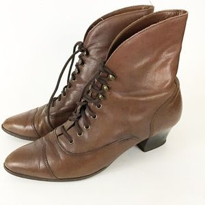 "Vintage ""Dona"" Bass Leather Victorian Boot"